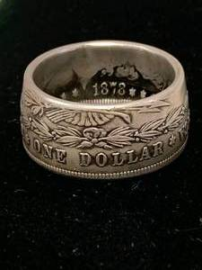 Morgan Dollar Hand Made Ring Size 12