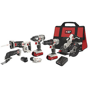 Porter-Cable 20V Lithium-Ion Cordless 6-Tool Combo Kit