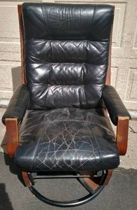 Vintage Dutalier Gliude Motion Leather Type Material Chair