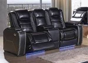 Signature Design by Ashley, Party Time Power Reclining Loveseat, with Console, 3700318 - BRAND NEW - NO RESERVE!