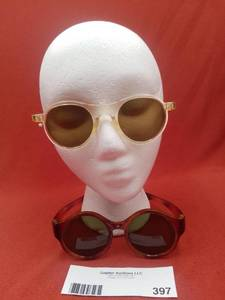 Vintage 1920s Foster Grant and 1920s Celluloid Round Sunglasses (Valued @$200)