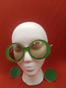 Rare Vintage 1960s Mod/Op Art Sunglasses with Earring Attached (Valued @$150)