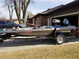 50Hp. 16 Ft. Cajun Bass Boat With Trailer