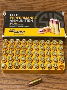 (50) Rounds Sig-Sauer Elite Perform...