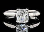 1.02 Carat Radiant Cut Diamond Solitaire in 14k White Gold; $9,800 Retail