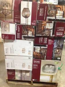 Pallet with assorted Home Decorators Lightning  various models and conditions see pictures
