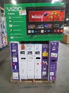 "UNTOUCHED Wholesale Pallet of 40"" 50"" & 55"" Smart Ultra HD TV's - $ 3,609.86 RETAIL VALUE!!!!"