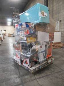 WHOLESALE MIXED PALLET OF MICELLANOUS SHOP EQUIPMENT AND SMALL HOUSEWARES!