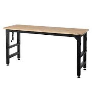 Heavy Duty 72 in. Adjustable Height Workbench in Black by Husky Customer Return See Pictures