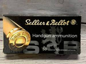 50 Rounds 9mm 124gr Ammo Ammunition