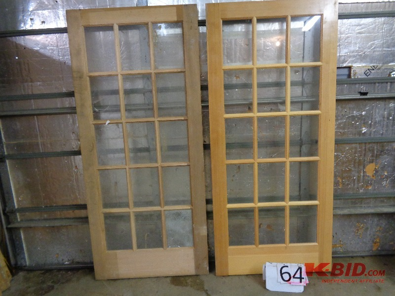 Tools household lawn equipment salvage pallets in oak for All glass french doors
