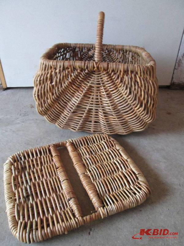 Willow Basket Weaving Dvd : Vintage wicker picnic basket madeof sprayer