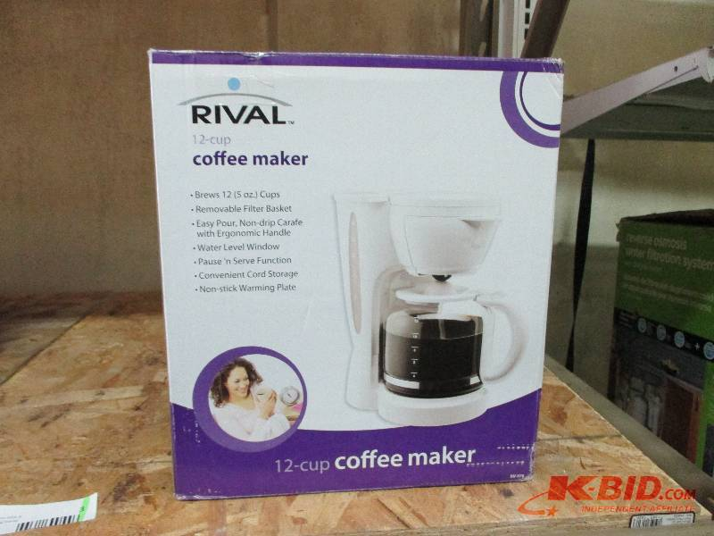 Rival Coffee Maker How To Use : Rival Coffee Maker May Returns #2 K-BID