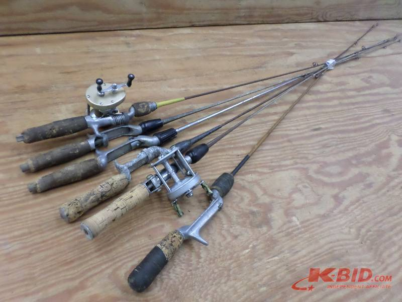 6 vintage steel fishing rods le fishing sporting for Vintage fishing poles
