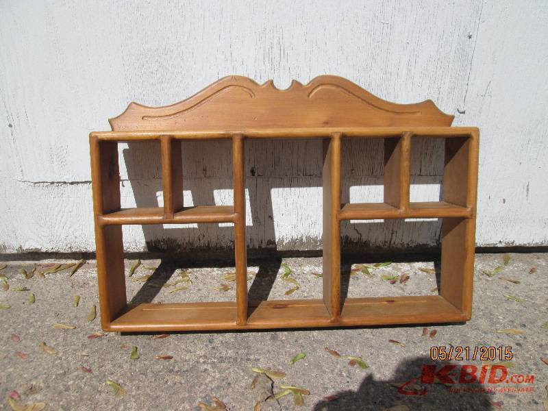 Wooden display shelf sports trains decor furniture