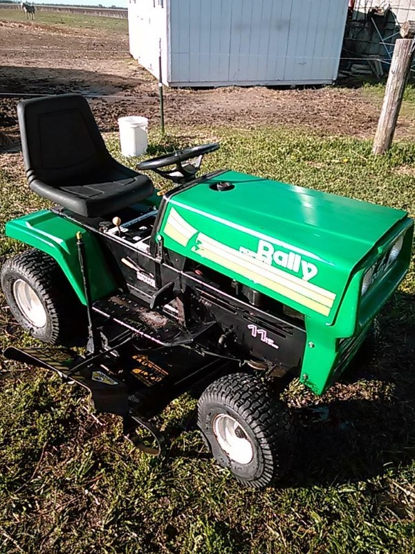 Roper Lawn Tractors And Garden : Rally roper cut riding lawn mower includes