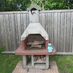Outdoor Cement Fireplace