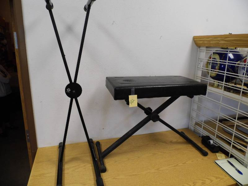 Keyboard stand and bench june 12 consignment k bid Keyboard stand and bench
