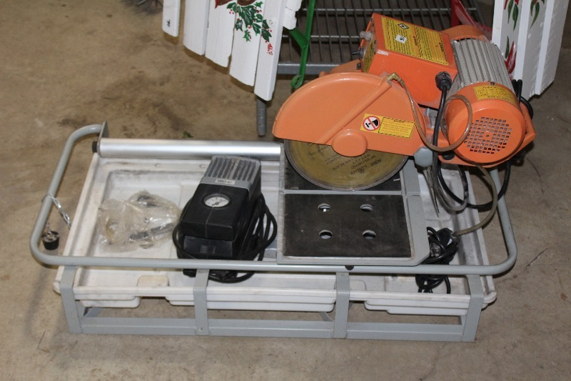 Chicago Electric Tools 10 Tile Saw 2 5hp Used Ver Little Good Working Condition Lowry Consignments 30 In Minnesota By Minnewaska Area S