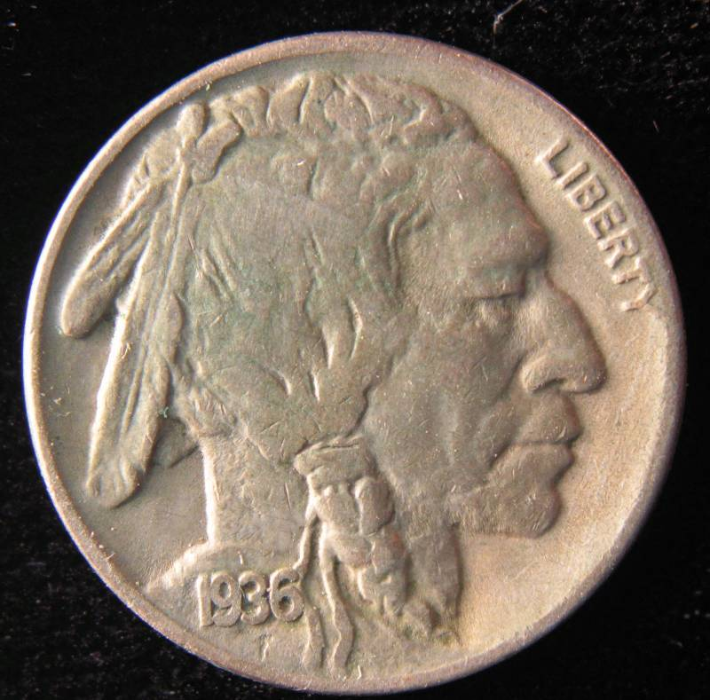 1936 D Buffalo Nickel Vf July 1st Rare Coin Auction K Bid