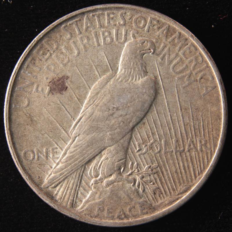 1922 D Peace Silver Dollar Vf Details July 1st Rare Coin