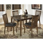 NEW -Signature Design by Ashley Stuman Medium Brown Rectangular Dining Room Table and 4 Chairs