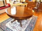 Antique claw foot tiger oak dining room table