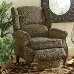 Beautiful Brand New High End Overstock Leopard Print Wingback Recliner-LAST ONE