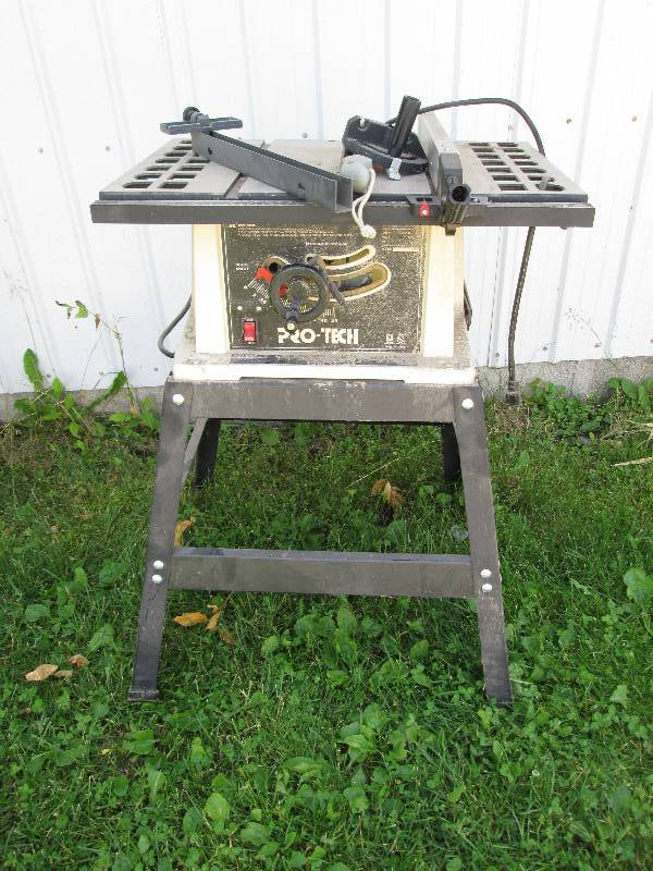 Pro tech table saw on stand cargo van tools speaker new windows more k bid Pro tech table saw