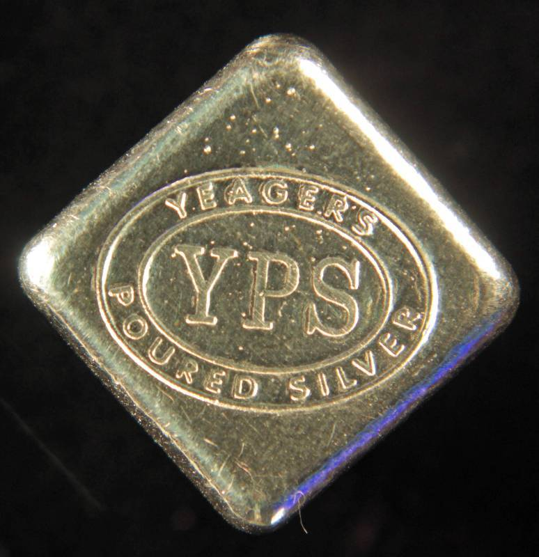 1 Troy Oz 999 Fine Silver Rare Dice Shaped Yps July
