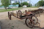 Antique Horse Drawn Manure Spreader Frame / TAXI CAB