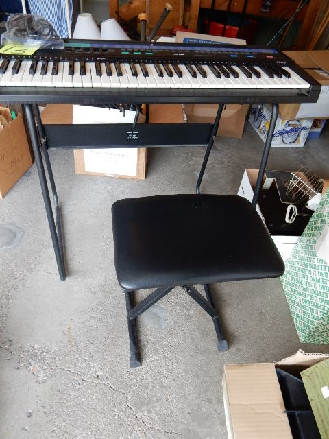 Casio 210 sound tone bank electronic keyboard stand and bench apple valley downsizing and Keyboard stand and bench