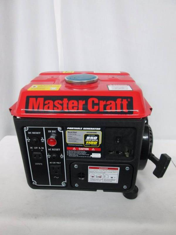 Master Craft 1100 Watt Generator July Store Returns And Consignments