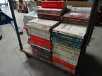 Cart full of GM repair manuals