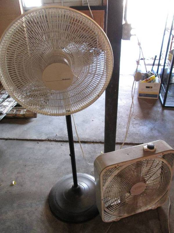 Box Fans On Sale : Large stand fan and a box antique unique crafter