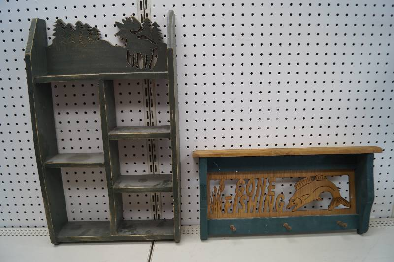 rustic shelves a moose outline shelf and gone fishing 39 shelf with