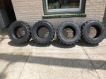 4 New Allied RBT Skid Loader Tires