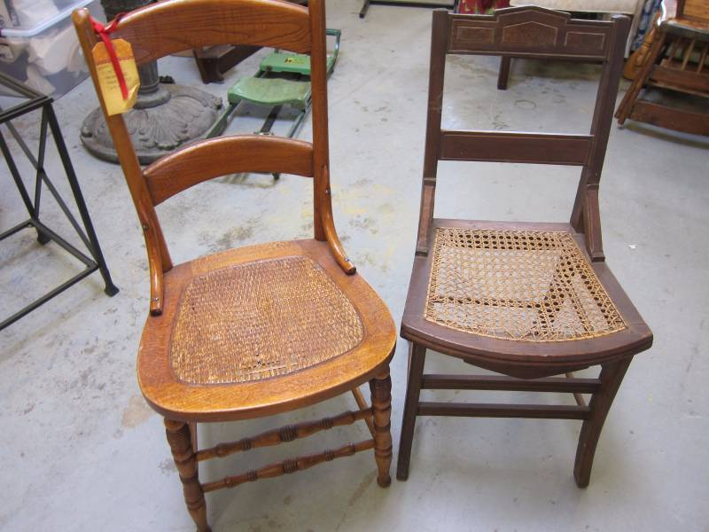 Wood Cane Chairs M A Williams Vintage Furniture