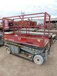 MEC 2033ES Scissor Lift.. This works, but no guarantee on how good the batteries are.. Has Extendable Bed.  20ft x 33in w bed.