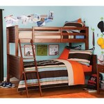 Your Zone Twin Over Full Bunk Bed - Walnut