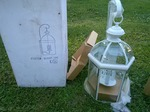"Awesome High End Jumbo Sized 22"" Tall Lantern Light=BRAND NEW In The Box"