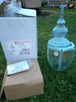 "Beautiful BRAND NEW Antiqued SOLID Brass 16"" Wall Lantern"