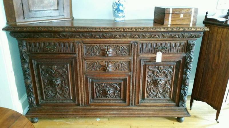 German Black Forest Carved Sideboard C. 1880 | No. 6 Antique English U0026  European Fine Furniture Auction | K BID