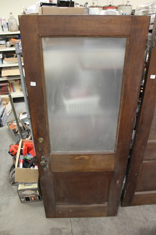 Antique solid wood door lowry consignments 35 k bid for Vintage solid wood doors
