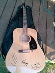 SUPER RARE AUTOGRAPHED CROSBY STILLS NASH AND YOUNG FENDER GUITAR