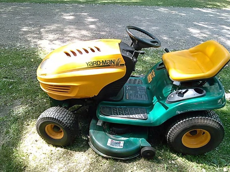 Man Riding Lawn Mower : Yard man quot riding lawn mower foot pedal hydro very