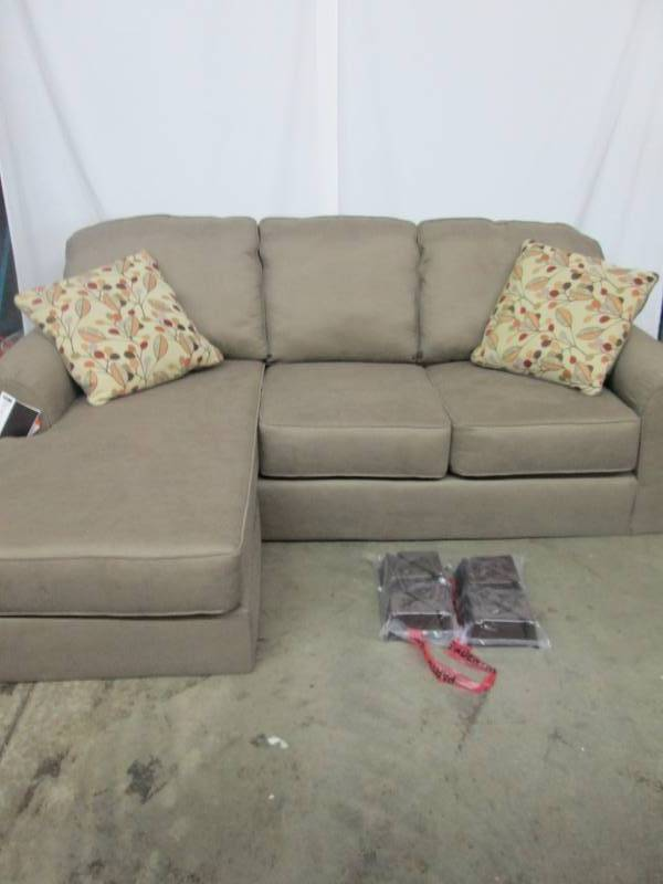 Ashley sofa with chaise beige august high end store for Beige sofa with chaise