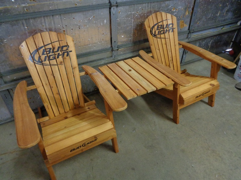 Incroyable Bud Light Adirondack Chairs With Table | Tools, Hardware, Collectibles,  Furniture, More | K BID