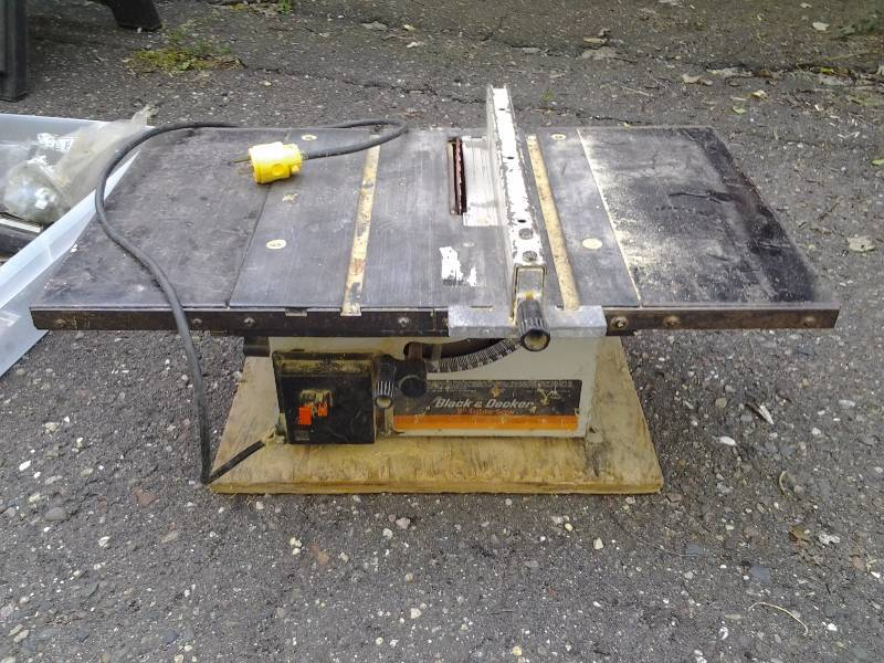 Black Decker Table Saw 8 Inch Robbinsdale Handy Man Tools Moving Sale K Bid