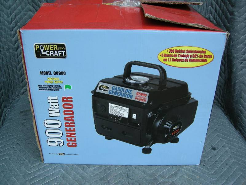 power craft 900w generator new showroom generators air